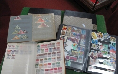 World Collection of Stamps, in five small stockbooks, includ...