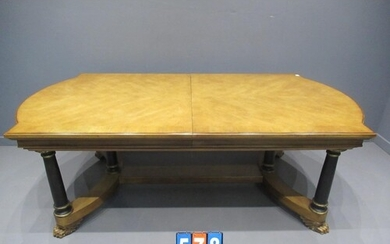 century extending dining table and 2 leafs