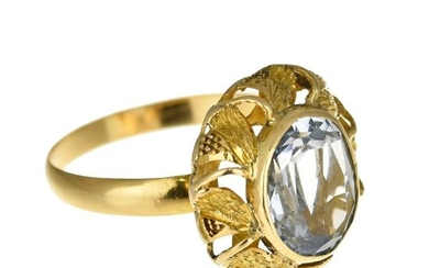 18 kt. Yellow gold - Ring - 6.00 ct Topaz