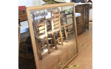 A 19th century rectangular wall mirror in gilt moulded frame...