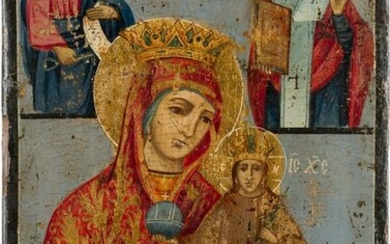A LARGE ICON SHOWING THE MOTHER OF GOD 'THE UNFADING