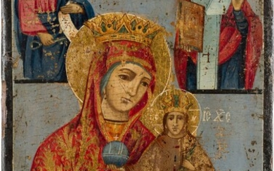 A LARGE ICON SHOWING THE MOTHER OF GOD 'THE UNFADING...