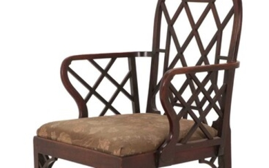 A Mahogany Cockpen Armchair, late 19th century, in George...
