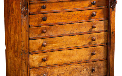 A Victorian Walnut Wellington Chest (late 19th century)