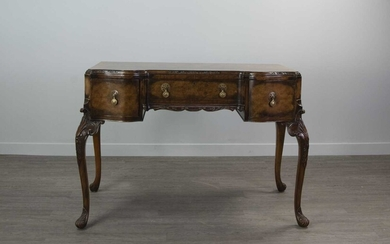 A WALNUT DRESSING TABLE OF QUEEN ANNE DESIGN