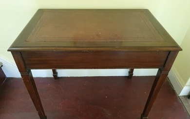 A late 19th early 20th Century Mahogany leather topped Desk ...