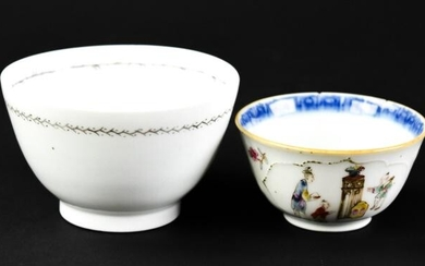 Antique 18th C Chinese Export Porcelain Cups