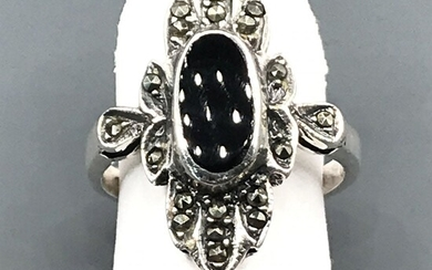 Antique style 925 silver ring