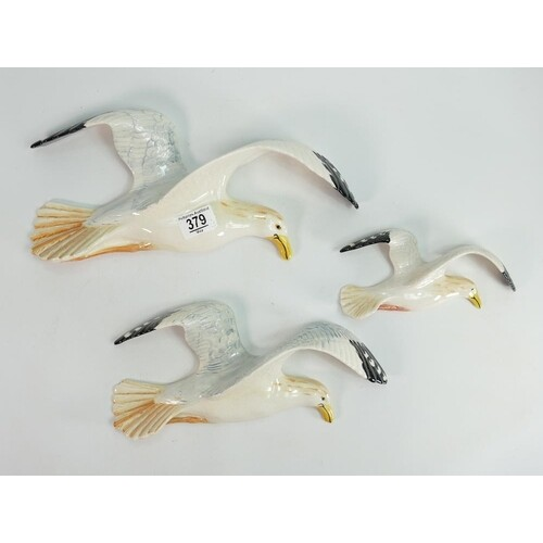 Beswick set of graduated seagull wall plaques: comprising 65...