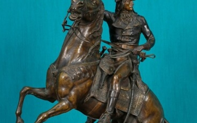 Bonaparte on horseback during the Egyptian campaign Brown patina bronze...