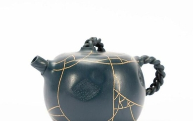 CHINESE YIXING ZISHA DARK BLUE TEAPOT