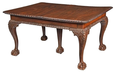 Chippendale Mahogany Extension Dining Table