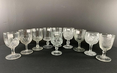 Collection Of 10 Assorted Eapg Goblets