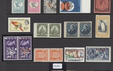 Collections and Ranges A Great Britain and British Empire collection of errors and plate varie...