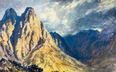 Edward Roworth (South Africa 1880 - 1964): END OF A STORMY D...