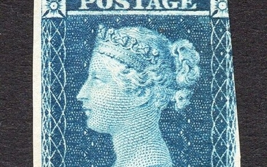 Great Britain - QV 1841 2d Blue Trial With Void Corner Letters - Stanley Gibbons SG Spec DP43