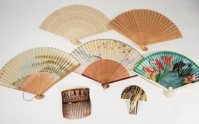Group of Asian Fans and Hair Combs FR3SHRO