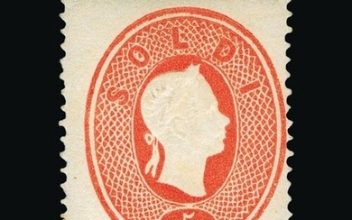 Italy - States - Lombardy & Venetia : 1861-62 5s red, mint w...