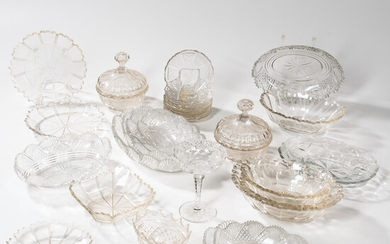 Large Group of Cut Glass