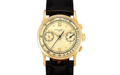 Patek Philippe | Reference 130, A pink gold chronograph wristwatch, Made in 1943 | 百達翡麗 | 型號130 粉紅金計時腕錶,1943年製