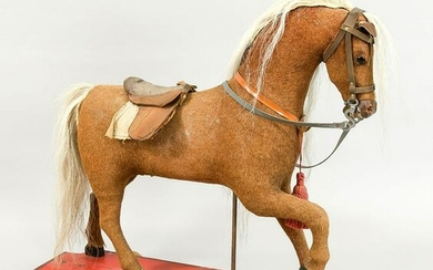 Rocking horse, c. 1900. with real h