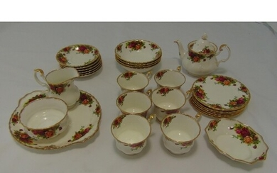 Royal Albert Old Country Roses teaset for six place settings...