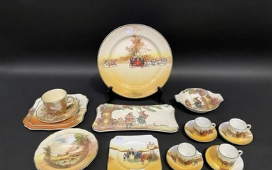 Royal Doulton Under The Greenwood Tree dish and sandwich pla...