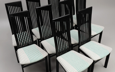 """WOLF SCHMIDT-BANDELOW. Chairs 10 pcs, Italy. """"Napoleon"""", made by Manzano, Italy."""