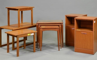 2 Mid Century Nests & a Pair of Night Stands