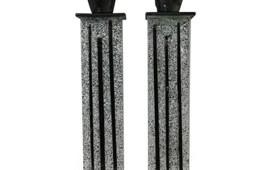 (2 Pc) Hanna Bahral Art Fused Glass Candle Holders