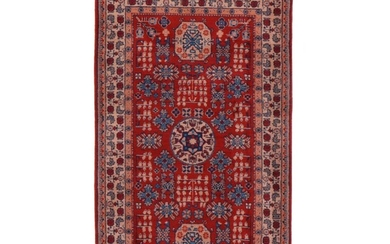 2'11 x 5'1 Hand-Knotted Chinese East Turkestan Khotan Rug, 2010s