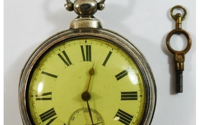 A 19th century silver pair cased pocket watch, London 1868, ...