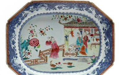 A Chinese Export Porcelain Nanking Meat Platter