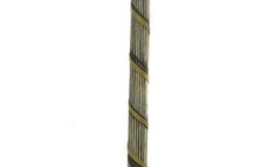 A Neo-classical style painted floor standing lamp in the mid-George III manner