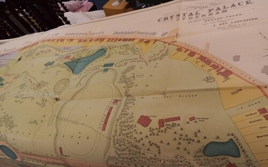 A large plan of Crystal Palace for auction