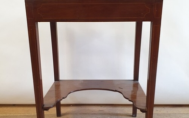A mahogany side table, with two slides, 54 cm wide