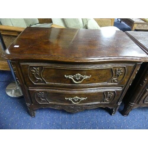A pair of American, Louis XVI-style, reproduction walnut Che...