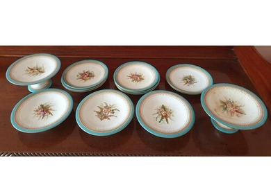 A part set of 19th Century Royal Worcester Plates with hand ...