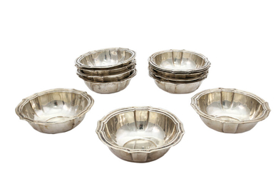 A set of twelve silver cup