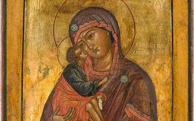 AN ICON SHOWING THE DONSKAYA MOTHER OF GOD Russian,...