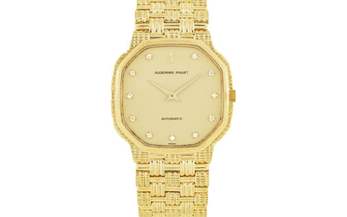 AUDEMARS PIGUET, GOLD AND DIAMOND SET BRACELET WATCH