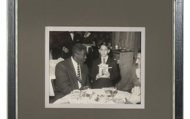 AUTOGRAPHED JACKIE ROBINSON PHOTO WITH MIKE BROWN
