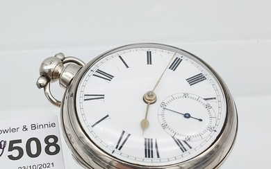 Antique London silver cased pocket watch produced by P. Brys...