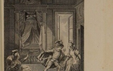 BEAUMARCHAIS (Pierre-Augustin Caron de). La folle journée, or The Marriage of Figaro. Comedy in five acts, in prose. [Kehl], From the Printing House of the Literary-Typographical Society, and is in Paris, at Ruault, 1785. In-8, LII-199 p., pl...