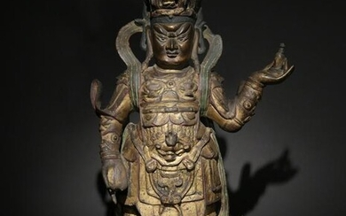 Chinese Bronze Statue of a Guardian, Ming Dynasty