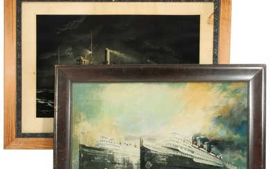 EARLY 20TH C. DETROIT AND CLEVELAND STEAMSHIP PRINTS