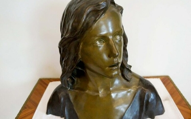 France Bust of young Jesus François-Raoul Larche late