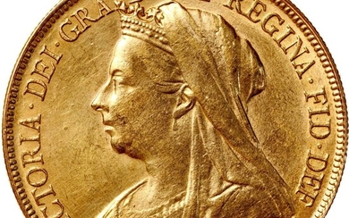 Great Britain, gold 5 pounds, CONTEMPORARY COUNTERFEIT, 1898