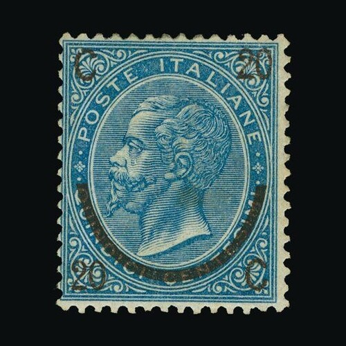 Italy : (SG 18) 1865 20c on 15c dull blue type II, very fine...