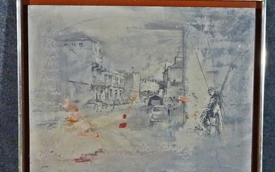 SIGNED STREET SCENE ARTWORK